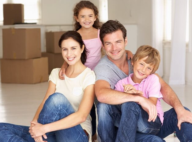 family ready to move items to self storage