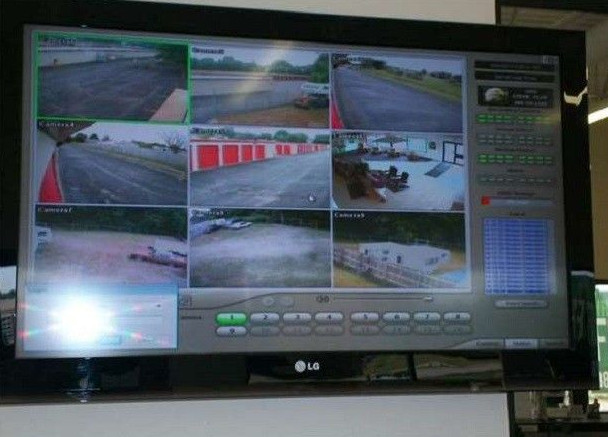 cctv cameras in storage warehouse