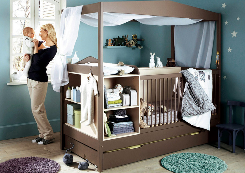 making storage space for baby items